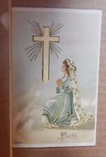 "Postcard religious "" Faith"" from the faith Hope and charity series unposted"