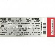 MUSE & THIRTY SECONDS TO MARS Concert Ticket Stub 7/18/17 TORONTO CANADA Rare