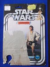 Luke Skywalker Farmboy Cardback only Star Wars vintage 12 back original 12C