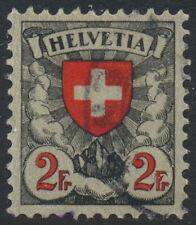 Switzerland Scott 203, Schweiz Zu 166, 2Fr Arms type, VF Used