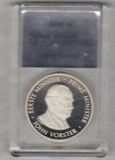 BOXED & SLABBED 1978 SOUTH AFRICA NATION PARTY 30TH ANNIVERSARY SILVER MEDAL.