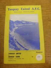07/01/1961 Torquay United v Grimsby Town  (Light Crease). Unless previously list