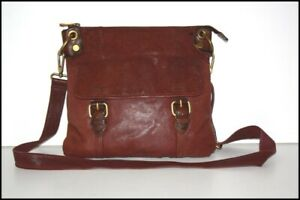 Fossil Bag besace Leather Flexible Plum Shoulder Strap Very Good Condition