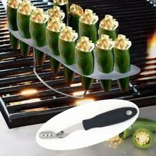 Stainless Steel Barbecue Chili Pepper Corer Jalapeno Slicer Cutter Tool LP
