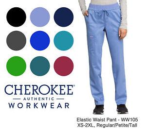 Cherokee Workwear Revolution Women's WW105 Cargo Scrub Pant -NEW-FREE SHIP