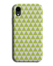 Light Green Geometric Chequered Phone Case Cover Shapes Funky Pattern G542