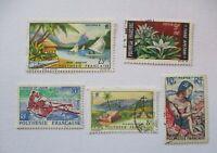 Polynesien Frankreich, 5 gestempelte Marken (24027)