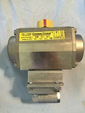 "1/2"" 3-Way Stainless Steel CompacTorque Pnuematic Actuator and Valve 125psi Max"