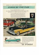 VINTAGE 1955 FORD AUTOMBILES RANCH WAGON SUNLINER FAMILY DACHSHUND DOGS AD PRINT