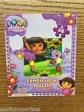 """DORA the EXPLORER 28pc 3D Lenticular Puzzle 9"""" x 6"""" 9x6 Actual Puzzle on box 5+"""