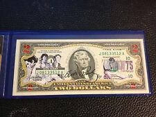 USA $2 Dollar Bill Legandary Rocker ELVIS PRESLEY 75th Birthday Legal Tender