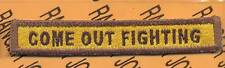 """761st Armored """"COME OUT FIGHTING"""" TANK TAB patch"""
