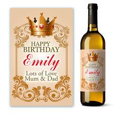Personalised Happy Birthday Wine Label Gift