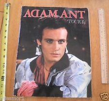 Adam Ant 1984 concert Tour program Htf