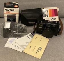 Vivitar 35Es rangefinder 40mm f1.7 35mm film camera & New 2600 Flash