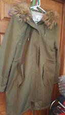 Women's Fall Winter Coat Jacket Liz Claiborne Size LARGE .ARMY GREEN