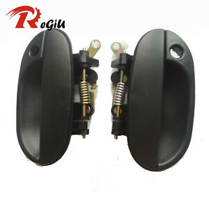For 95-99 Hyundai Accent Outside Exterior Front Left Right Side Door Handle 2Pcs