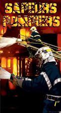 Serviette de plage Drap de bain Sapeurs Pompiers Français Lance incendie
