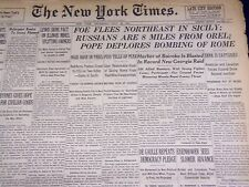 1943 JULY 22 NEW YORK TIMES - FOE FLEES NORTHEAST IN SICILY - NT 1887
