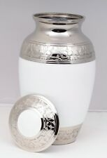 Cremation Urn for Ashes Adult Remembrance Funeral Memorial urn Large White urn