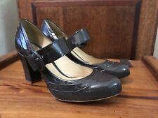 Worn Once Clarks Active Air Mary Jane Lack dunkelgrau Schuhe Heels UK 5