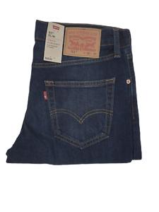 LEVIS Mens 511 Slim Fit  Sequoia Stretch Jeans Dark Blue