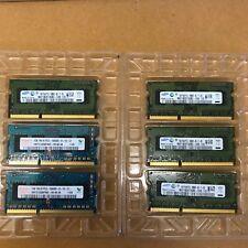 Lot of 10 x 1GB PC3-10600S, 1333MHz MacBook Pro/iMac Memory RAM 10GB