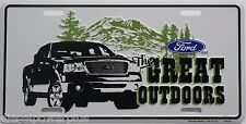 ford tag truck emblem license plate great outdoors f150 great outdoors decal new