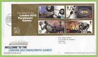G.B. 2012 Welcome Paralympic m/s on Royal Mail First Day Cover, london E20