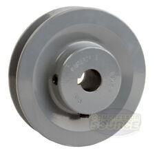 """4"""" Cast Iron 5/8"""" Bore Shaft Pulley Sheave Single 1 Groove V Style B Belt 5L New"""