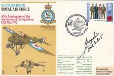 RAF3 60th Anniv Formation 3 Sqn Signed Hans Joachim Von Hippel German Ace