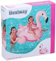 """Bestway Luftmatratze Aufblasbares Schwimmtier """"Flamingo"""" Wassertier Schwimminsel"""
