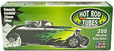 Hot Rod Menthol Flavor King Size Cigarette Tubes - Lot of 5 Boxes