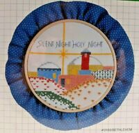 """1983 NIP Counted Cross Stitch Embroidery Kit Bethlehem 5"""" Hoop Picture Vtg 7549F"""