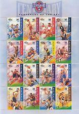 Stamps Australia 1996 Australian Rules Football AFL mini sheet of 16 teams MUH
