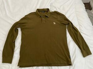 Mens Paul Smith Long Sleeve Polo Shirt Xl