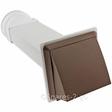 """WHITE KNIGHT Wall Vent Kit Vented Tumble Dryer Hose Outlet Pipe External Cowl 4"""""""