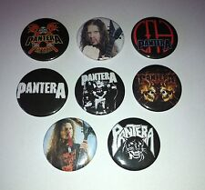 8 Pantera pin badges Dimebag darrell Cowboys from Hell Patrol Far Beyond Driven