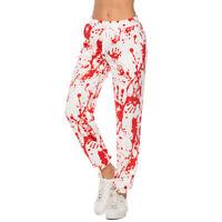 Fashion Women Men 3D Blood Palm Print Casual Pants Sweatpants Sport Jogging H
