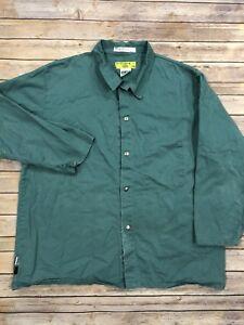 Westex FR Flame Resistant Welding Jacket Green 2XL Work Uniform ATPV 10.8 #41
