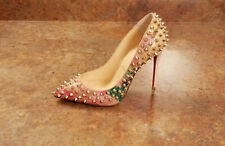 New! Christian Louboutin 'Follies' Spike Cork Pump Womens 5 US 35 Eur MSRP $1295