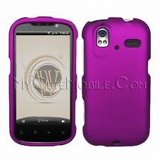 HTC Amaze 4G Case - Two-piece Purple Rubberized coated Hard Faceplate Cover