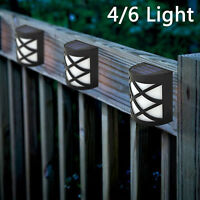 SOLAR POWERED FENCE LIGHTS STEP DOOR WALL BRIGHT 4/6 LED LIGHT GARDEN DECORATION