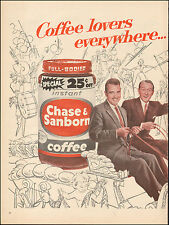 1957-Vintage ad for Chase & Sanborn Coffee`Art Linkletter`Tennessee Ernie Ford