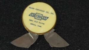 Vintage Allan Chevrolet Mother of Pearl Cigar Cutter Rare Ambassador Knife Iowa