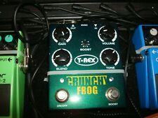 T-REX CRUNCHY FROG OVERDRIVE PEDAL WITH USER MANUAL