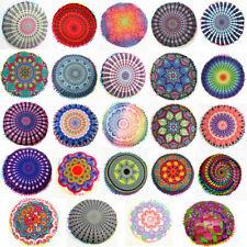Indian Mandala Floor Pillow Case Throw Round Bohemian Meditation Cushion Cover