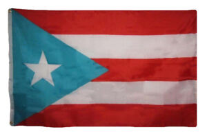 4x6 Light Blue Puerto Rico Poly Premium Quality Flag 4'x6' House Banner Grommets