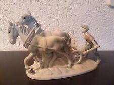 seltene große Porzellan Figur von Gerold & Co Tettau
