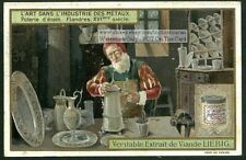 16th Century Flanders Tin Worker Artist Poterie D'etain 1905 Trade Ad  Card